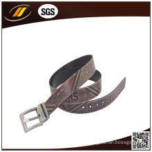 New Fashion Custom Unisex Belts Top Grain Cowhide Leather Belt