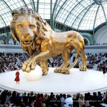 Открытый античный садовый декор бронзовый большой статуи Львов для продажи