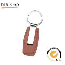 Porte-clés de voiture de logo d'or de graver d'or en métal promotionnel personnalisé (Y02207)
