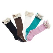 Bas de chaussettes en coton avec des lacets pour enfants (KA004)