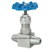 Válvula de alta temperatura soldada e válvula de pressão Válvula de alta temperatura e pressão agulha de retenção