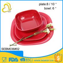 изготовленный на заказ Логос конструкции меламина чаша и тарелка бамбук посуда