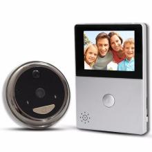 Sonnette vidéo d'anneau de Wifi de couleur blanche et noire avec des caméras et un moniteur d'écran de hd de 2.8inch