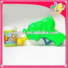 Karikatur-Elefant-Entwurfs-Luftblasen-Gewehr, lustiges Reibungs-Luftblasen-Gewehr-Spielzeug, blinkendes Luftblasen-Gewehr für Kinder mit Luftblasen-Wasser