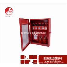 Wenzhou BAODI Combination Lockout Tagout Station Center Lock Filling Cabinet of 10 Locks Red color