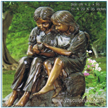 Bronze Girl Statue for Garden Decoration
