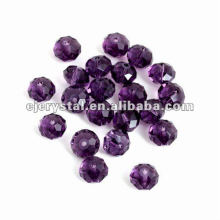 Kristallglas-flache Perlen, Glasperlen für Kronleuchter