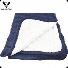 Жаккардовые одеяла для укладки кабелей с искусственным мехом Назад