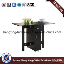 Simple Wooden Black Side Table (HX-6M350)