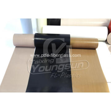 Non-stick PTFE coated glass fabrics for sealing machine
