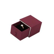 Caja de joyería de anillo de papel marrón de diseño de cajón al por mayor (BX-BB-PR1)