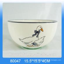 Venta al por mayor de pato de cerámica cuenco de cerámica para utensilios de cocina