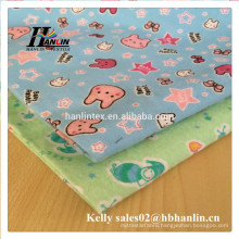Printed Pattern and Carded Yarn Type flannel fabric printing