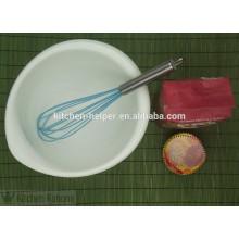 2015 mini batidor de huevo caliente del silicón del grado alimenticio de la venta el 100%