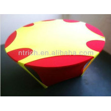 durable and washable cheap spandex/lycra table cloth with hole on top for wedding banquet events