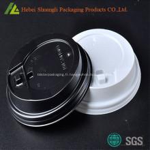Couvercles de tasses à café en plastique PS
