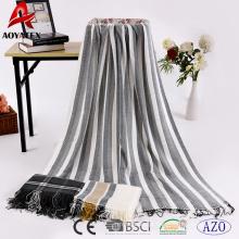 China fábrica aoyatex 100% poliéster tecido acrílico cobertor quente