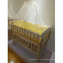 Couvercle en tissu de lit en bois pour bébés