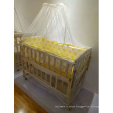 Baby Wood Bed Cloth Cover Crib