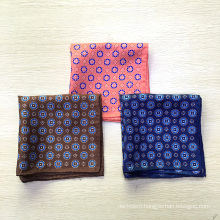 Wholesale Custom Print Hand Rolled Silk Pocket Squares for Men