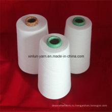 Полиэфир / Хлопок Смешанная пряжа 32s для ручного вязания, ткачества