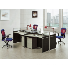 4 people routine office glass workstation front to front