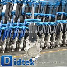 Válvula de compuerta tipo cuchilla de acero inoxidable Didtek