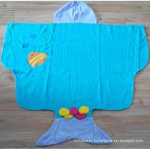 (BC-KB1008) High Quality 100% Cotton Terry Kids Cute Bathrobe