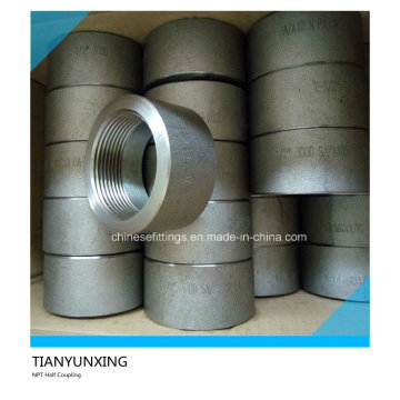 A105n NPT Screw Threaded Forged Steel Half Coupling