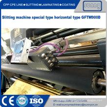 Narrow width simple adhesive tape slitting machine