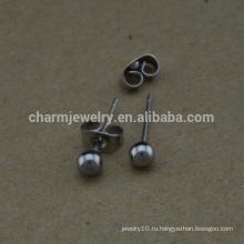 BXG023 Нержавеющая сталь Круглые шариковые штифты Pin pin earring Никель Свободные находки серьги для изготовления ювелирных изделий