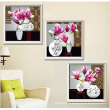 2015 imagens de parede pinturas modernas de arte de triptych de flores para imprimir 5d pinturas de diamante diy por números