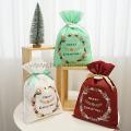 Weiße Weihnachtsgeschenkverpackungstaschen aus Vliesstoff