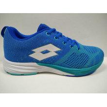 Alta calidad ODM / OEM calzado personalizado azul de punto de las mujeres
