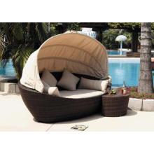 Открытый PE ротанга кровать Beach Lounge дизайн современного