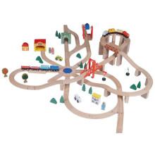 Klassisches Wooden Railway Set Spielzeug