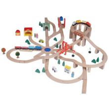 Classic Wooden Railway Set Toy