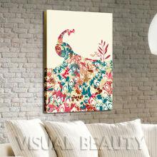Arte abstracto de la pared del estallido del pavo arte en lona