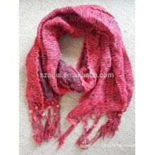 Mulheres inverno beads moda acrílico malha long lenço pendente
