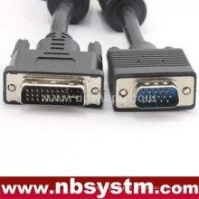 VGA 15 pinos macho para DVI 24 + 1 pino macho Cabo