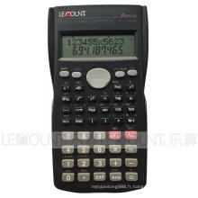 12 + 10 chiffres 240 Fonction Affichage à 2 lignes Calculatrice scientifique avec cache arrière coulissant (LC750A)