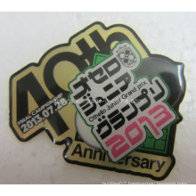 Quick Produced Metal Cmyk Printed Lapel Pin Badge (badge-105)