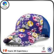 Fashion long brim custom trucker cap