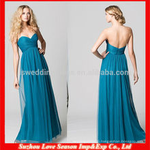 HB0079 2014 Hot Sale Sweetheart neckline natural waist floor length tulle overlay turquoise bridesmaid dress free shipping