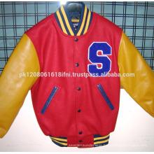 Baseball Genuine Leather Varsity Jackets / fashion jacket custom sublimated