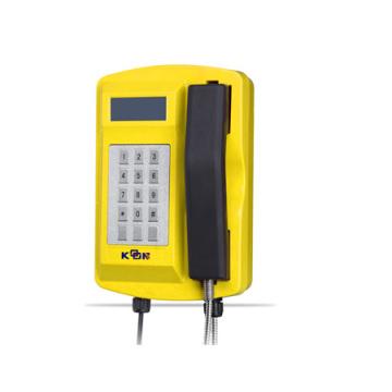 Telefone Offshore robusto à prova d'água de fundição com teclado e LCD