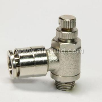 Nickel Plated Brass Flow Controller O.D Tube  08mm x 1/4 BSPP Thread
