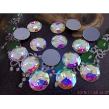 Ronda de coser diamantes de imitación con dos agujeros para la decoración de ropa