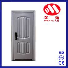 Popular Steel Security Iron Door with Power Coating Finish, Heat-Tansfer Can Customized