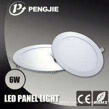 3 ans de garantie 6W LED plafonnier avec CE (rond)